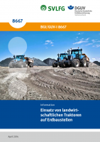 Einsatz von landwirtschaftlichen Traktoren auf Erdbaustellen