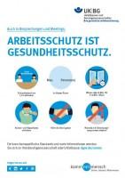 Arbeitsschutz ist Gesundheitsschutz - Besprechungen und Meetings (Plakat, DIN A3)