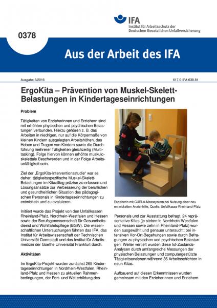 ErgoKita – Prävention von Muskel-Skelett-Belastungen in Kindertageseinrichtungen (Aus der Arbeit des