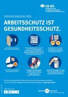 Arbeitsschutz ist Gesundheitsschutz -  Infektionsschutzgerechtes Lüften (Plakat, DIN A3)
