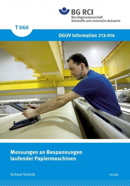 Messungen an Bespannungen laufender Papiermaschinen
