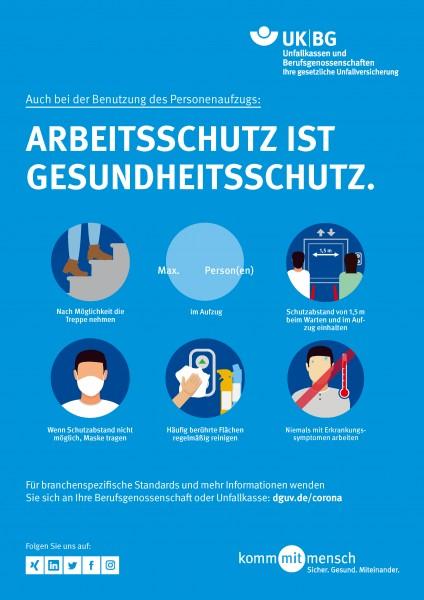 Arbeitsschutz ist Gesundheitsschutz - Benutzung des Personenaufzugs