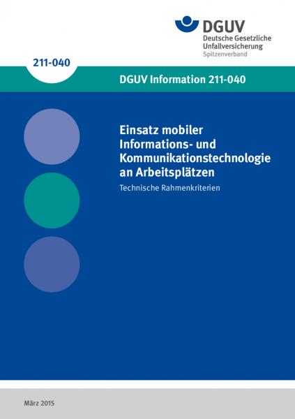 Einsatz mobiler Informations- und Kommunikationstechnologie an Arbeitsplätzen