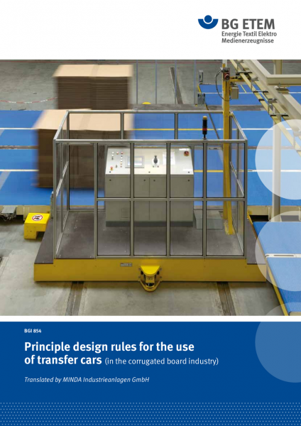 Principle design rules for the use of transfer cars (in the corrugated board industry)