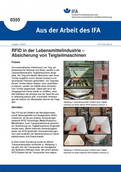 RFID in der Lebensmittelindustrie – Absicherung von Teigteilmaschinen(Aus der Arbeit des IFA Nr. 0