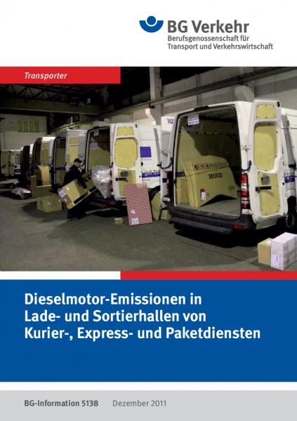 Dieselmotor-Emissionen in Lade- und Sortierhallen von Kurier-, Express- und Paketdiensten