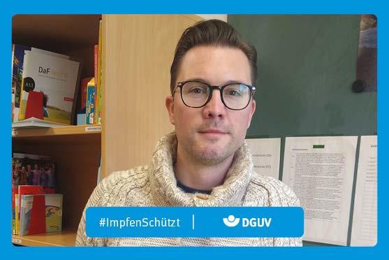 """Motiv #ImpfenSchützt, """"Sebastian Poweleit"""" (DGUV)"""