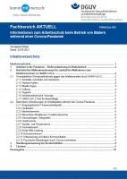 """FBWoGes-002 """"Informationen zum Arbeitsschutz beim Betrieb von Bädern während einer Corona-Pandemie"""""""