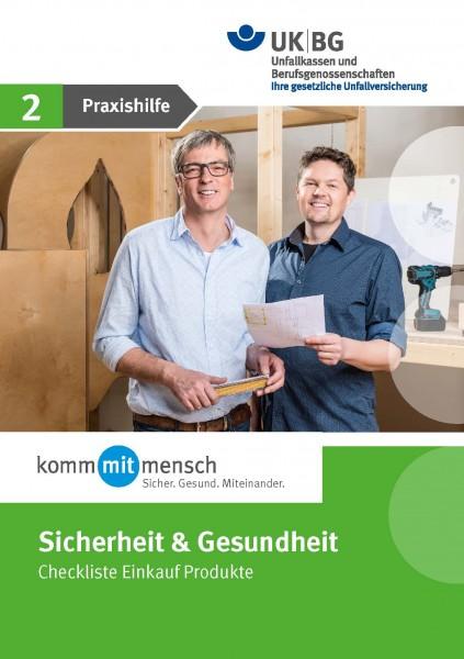 Handlungsfeld Sicherheit & Gesundheit - Praxishilfe 2 -Checkliste Einkauf Produkte