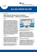 Methodische Beratung für (Online-) Veranstaltungen – Ablauf und Vorgehen (Aus der Arbeit des IAG 3110)