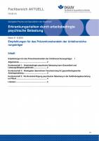 """FBGIB-001""""Erkrankungsrisiken durch arbeitsbedingte psychische Belastung"""""""