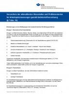 Verzeichnis der akkreditierten Messstellen und Prüflaboratorien für Arbeitsplatzmessungen gemäß Gefahrstoffverordnung (§ 7 Abs. 10)