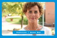 """Motiv #ImpfenSchützt, """"Marion Meyer"""" (DGUV und BG Kliniken)"""