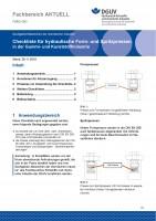 """FBRCI-003 """"Checkliste für hydraulische Form- und Spritzpressen in der Gummi- und Kunststoffindustrie"""""""