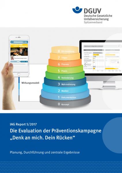 """IAG Report 5/2017 Die Evaluation der Präventionskampagne """"Denk an mich. Dein Rücken"""" Planung, Durchf"""