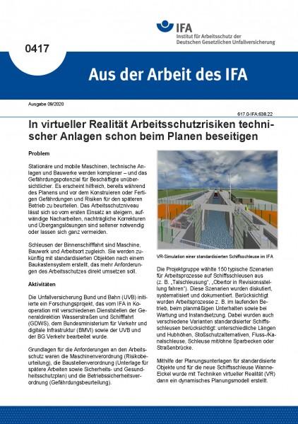 In virtueller Realität Arbeitsschutzrisiken technischer Anlagen schon beim Planen beseitigen (Aus de