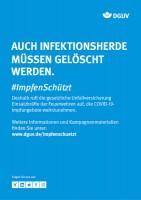 "Plakat #ImpfenSchützt, Motiv ""Infektionsherde löschen"" (DGUV) Hochformat"