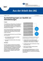 Kundenbefragungen zur Qualität von Dienstleistungen. Aus der Arbeit des IAG Nr. 3041