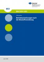 Betriebsanweisungen nach der Biostoffverordnung
