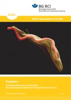 """Einstufung biologischer Arbeitsstoffe-Parasiten - Besondere Schutzmaßnahmen für Tätigkeiten mit Parasiten (Merkblatt B 005 der Reihe """"Sichere Biotechnologie"""")"""