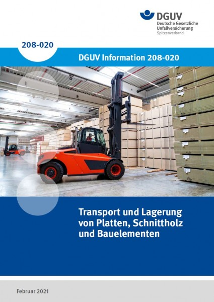 Transport und Lagerung von Platten, Schnittholz und Bauelementen