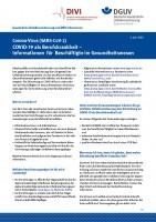 COVID-19 als Berufskrankheit – Informationen für Beschäftigte im Gesundheitswesen