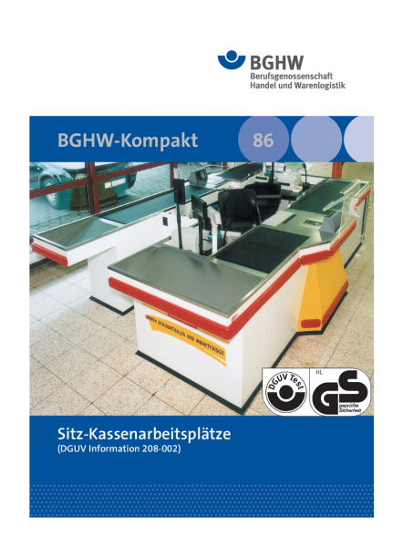 Sitz-Kassenarbeitsplätze (BGHW-Kompakt, Merkblatt 86)
