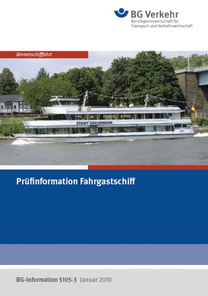 Prüfinformation Fahrgastschiff