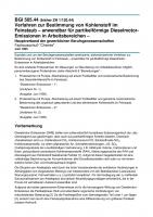 Verfahren zur Bestimmung von Kohlenstoff im Feinstaub - anwendbar für partikelförmige Dieselmotor-Emissionen in Arbeitsbereichen -