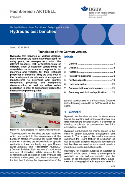 "FBHM-086 ""Hydraulic test benches"""