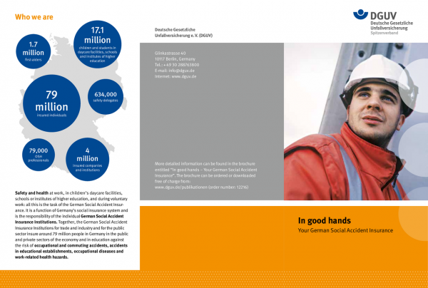Flyer: In good hands - Your German Social Accident Insurance