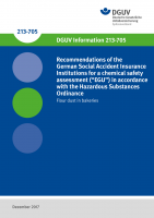 "Recommendations of the German Social Accident Insurance Institutions for a chemical safety assessment (""EGU"") in accordance with the Hazardous Substances Ordinance - Flour dust in bakeries"