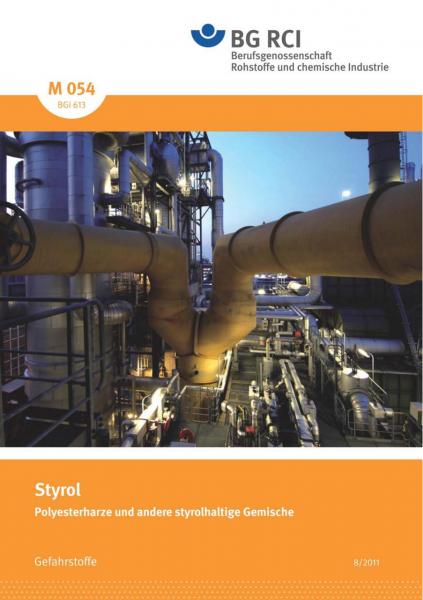 """Styrol - Polyesterharze und andere styrolhaltige Gemische (Merkblatt M 054 der Reihe """"Gefahrstoffe"""")"""