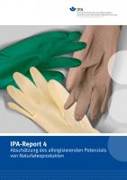 IPA-Report 04 - Abschätzung des allergisierenden Potenzials von Naturlatexprodukten