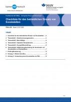 """FBHL-020 """"Checkliste für den betrieblichen Einsatz von Exoskeletten"""""""
