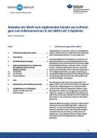 Hinweise der DGUV zum ergänzenden Einsatz von Luftreinigern zum Infektionsschutz in der SARS-CoV-2-Epidemie