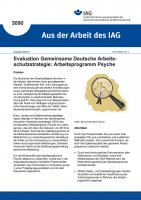 """Evaluation Gemeinsame Deutsche Arbeitsschutzstrategie: Arbeitsprogramm Psyche (""""Aus der Arbeit des IAG"""" Nr. 3090)"""
