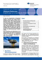 """FBHM-098 """"Offshore-Plattformen - Empfehlungen zur Umsetzung der Arbeitsstättenverordnung"""""""