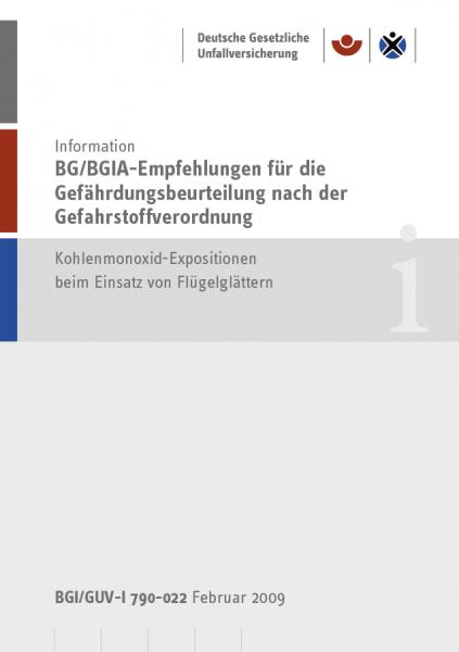 BG/BGIA-Empfehlungen für die Gefährdungsbeurteilung nach der Gefahrstoffverordnung - Kohlenmonoxid-E