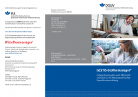 GESTIS-Stoffenmanager® - Informationsquelle nach TRGS 400 und Tool zur nichtmesstechnichen Expositionsermittlung