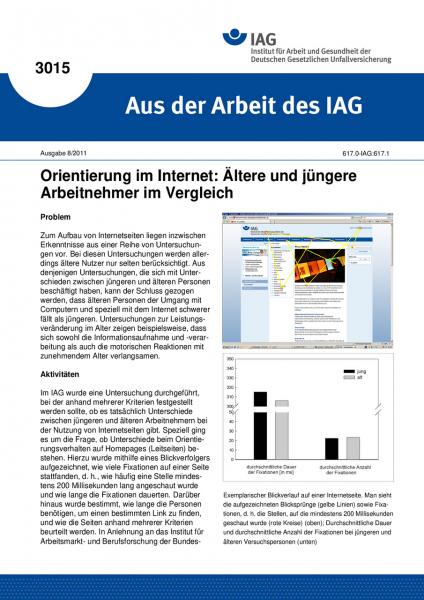 Orientierung im Internet: Ältere und jüngere Arbeitnehmer im Vergleich. Aus der Arbeit des IAG Nr. 3