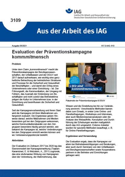 Evaluation der Präventionskampagne kommmitmensch (Aus der Arbeit des IAG 3109)