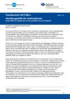 """FBEH-100 """"Handlungshilfe für Unternehmen - Erste Hilfe im Betrieb im Umfeld der Corona (SARS-CoV-2)-Pandemie"""""""