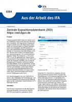 Zentrale Expositionsdatenbank (ZED) - https://zed.dguv.de (Aus der Arbeit des IFA Nr. 0384)