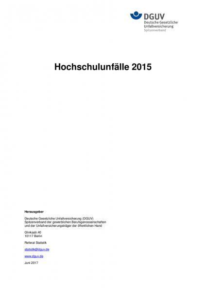 Hochschulunfälle 2015
