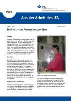 Dichtsitz von Atemschutzgeräten. Aus der Arbeit des IFA Nr. 0094
