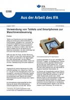 Verwendung von Tablets und Smartphones zur Maschinensteuerung (Aus der Arbeit des IFA Nr. 0398)
