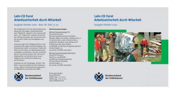 Lehr-CD Forst - Arbeitssicherheit duch Mitarbeit
