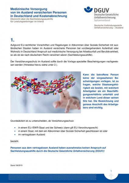 Medizinische Versorgung von im Ausland versicherten Personen in Deutschland und Kostenabrechnung - S