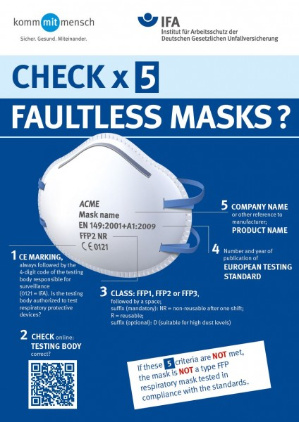 Check x 5 - Faultless masks? (Plakat DIN A3)